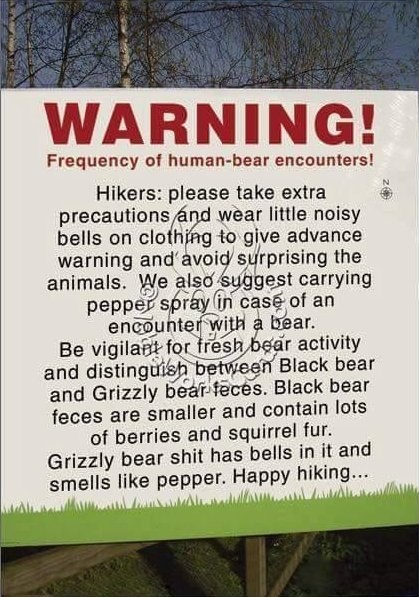 image signs bears Stay Safe and Be Prepared