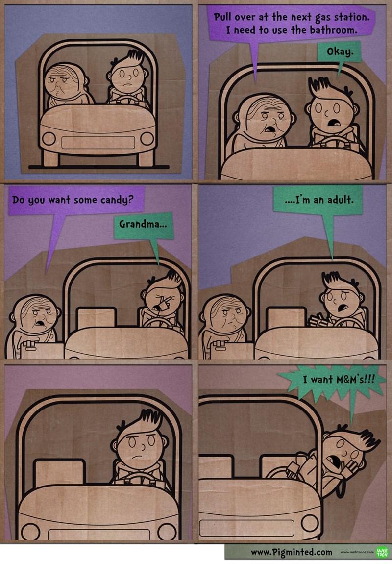 candy childhood grandma web comics - 8793396480