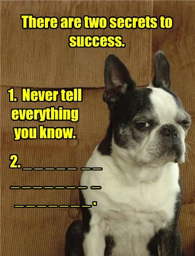 caption dogs secrets success