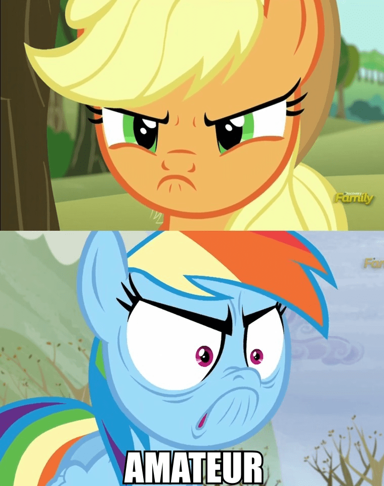 applejack,no me gusta,rainbow dash