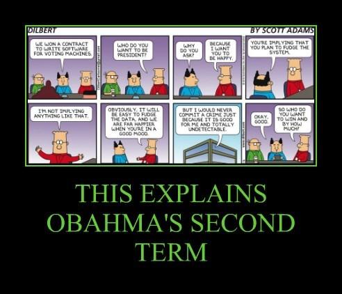 THIS EXPLAINS OBAHMA'S SECOND TERM