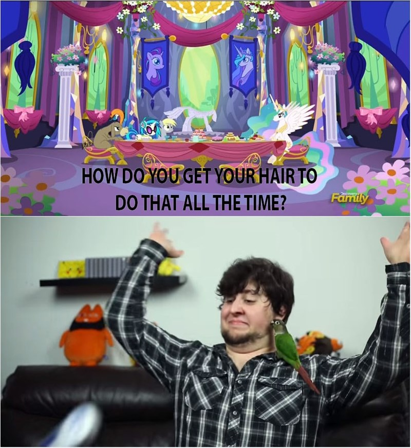 derpy hooves cranky doodle donkey princess celestia vinyl scratch jontron asking the tough questions - 8793521408