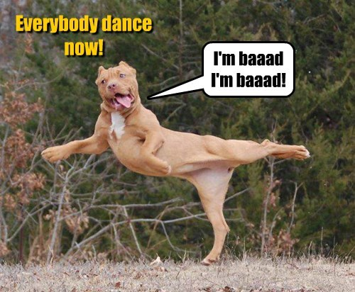 I'm baaad I'm baaad! Everybody dance now!