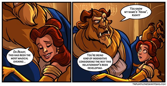 Beauty and the Beast disney cartoons funny - 8793694208