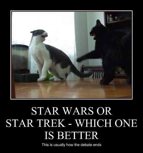 star wars,Star Trek,caption,Cats