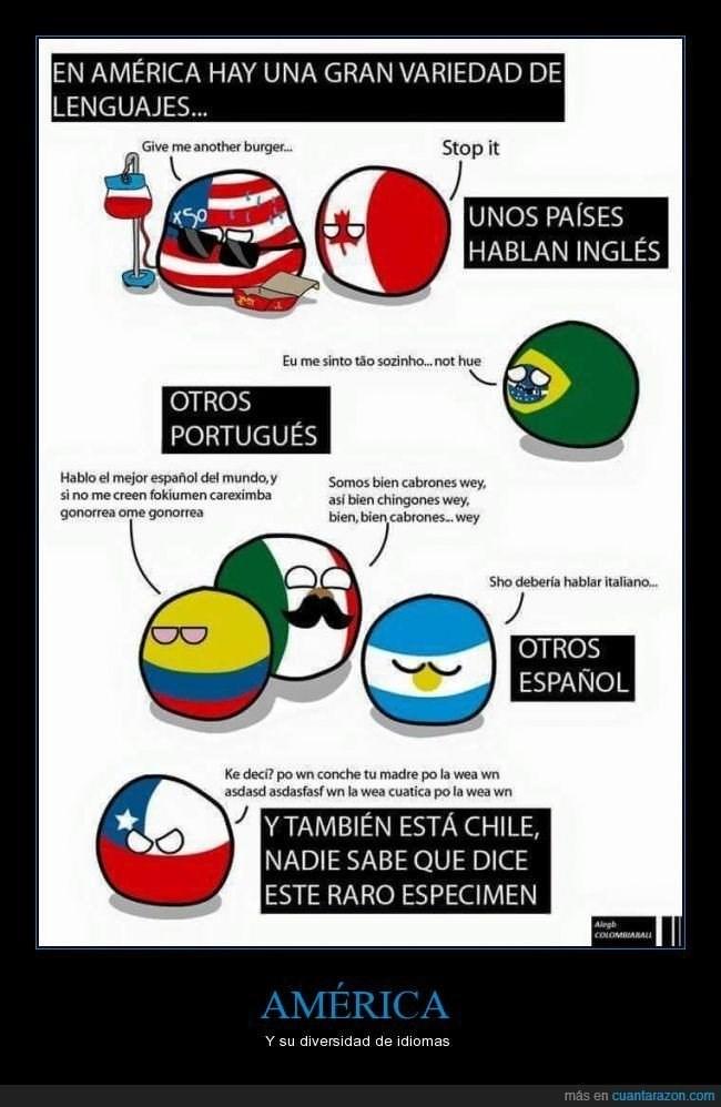 america y sus idiomas
