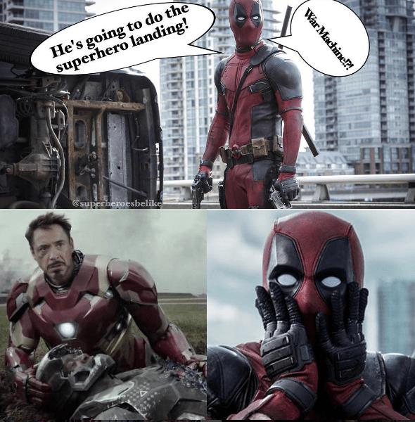 When You Botch That Superhero Landing...