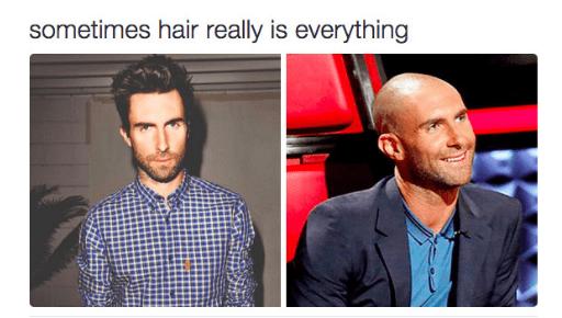 image adam levine hair Talk About False Advertising