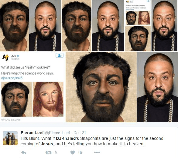 twitter jesus dj khaled If You Ask Dan Brown, He'd Probably Say DJ Khaled Was a Descendant of Jesus
