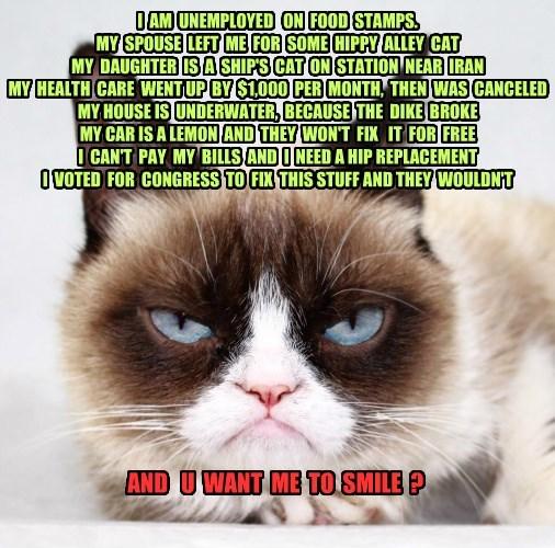 Grumpy Cat problems caption - 8793984000