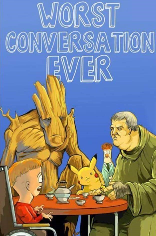 cartoons-groot-hodor-pikachu-timmy-conversation