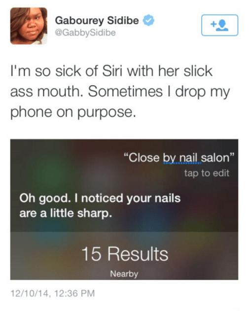 iphone siri sass Shut Up, Siri, You Don't Even Have Nails