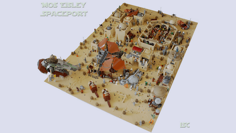Nobody Was Left out From This Impressive Fan-Made LEGO Mos Eisley Spaceport