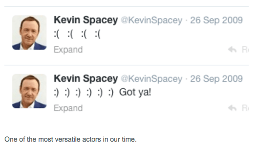 image kevin spacey twitter Truly a Genius