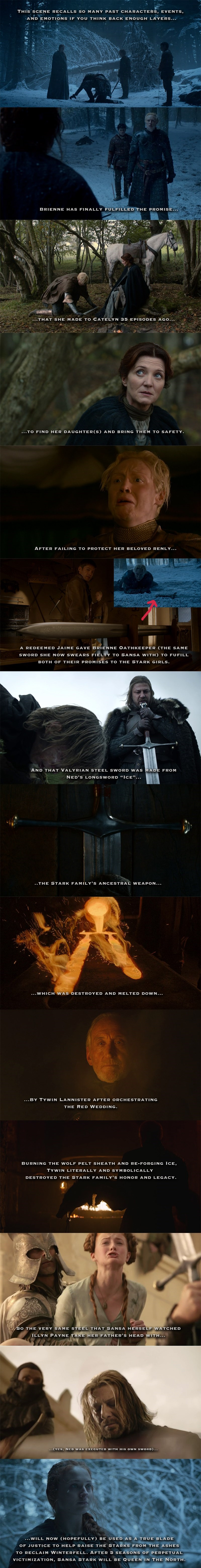 heres why that brienne sansa scene was so powerful