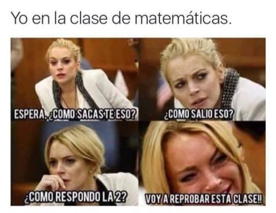 en clase de matematicas