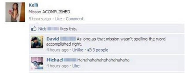 grammar failbook facebook - 8794605568