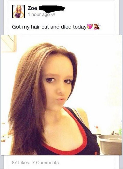 girl died her hair