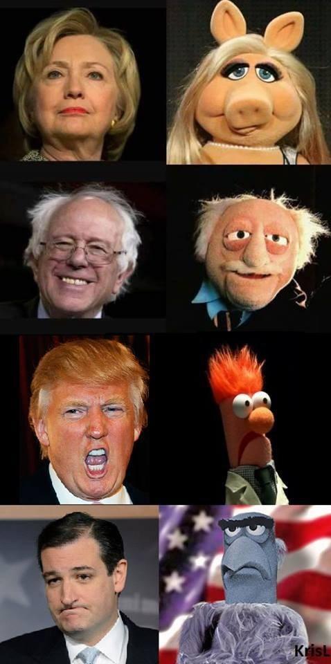 muppets,donald trump,bernie sanders,Hillary Clinton,Democrat,republican