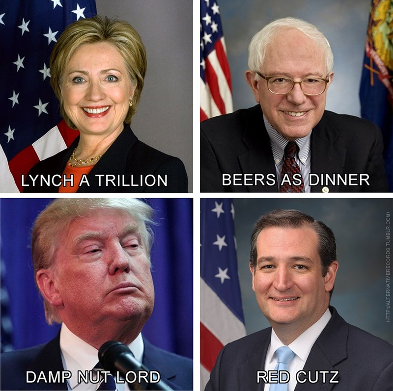 donald trump bernie sanders Hillary Clinton Democrat republican ted cruz - 8794950912
