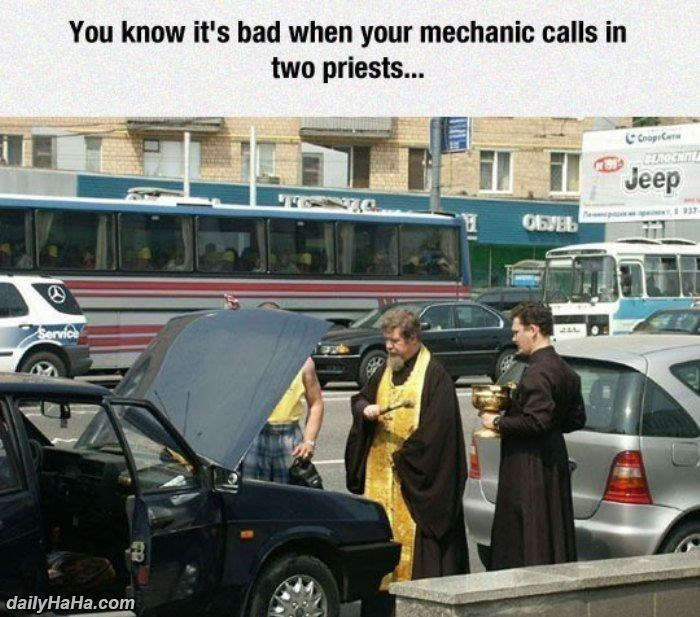 priest cars Memes mechanic - 8795104768