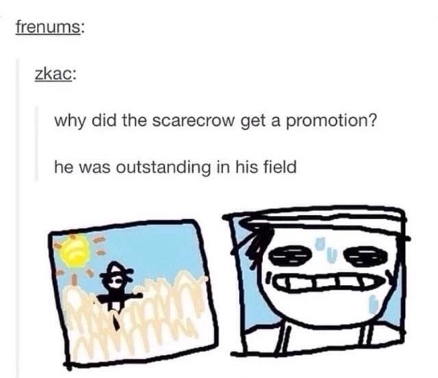 corn scarecrow puns image - 8795126528
