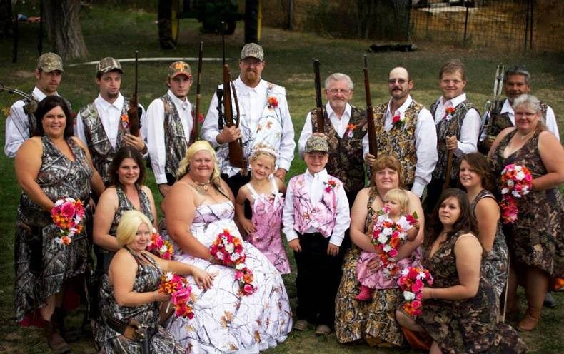marriage murica red neck camo wedding america