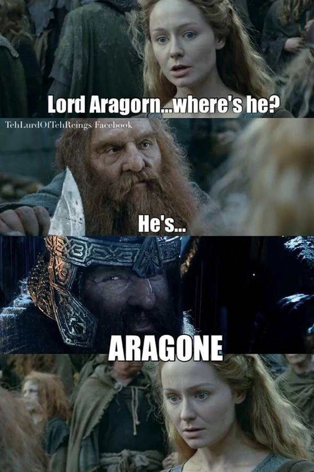 Lord of the Rings puns gimli - 8795184128