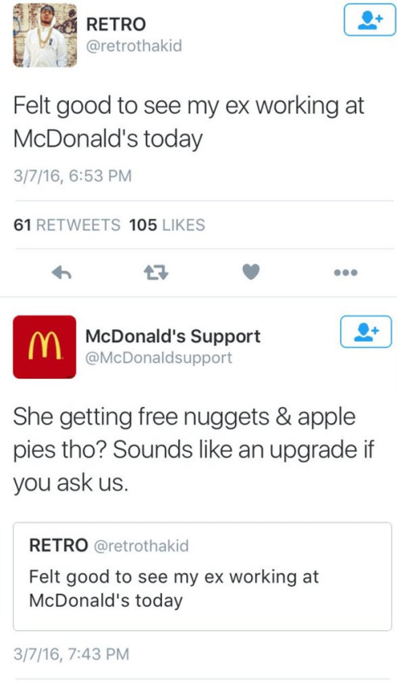 twitter,ex girlfriend,McDonald's