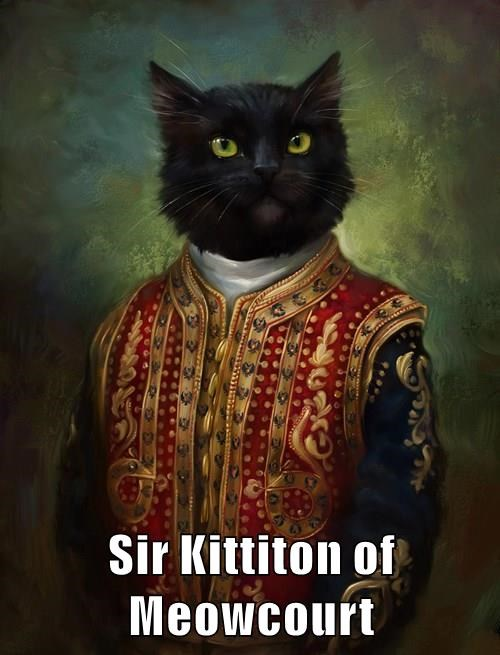 animals court meow sir masterpiece painting caption Cats - 8795282176
