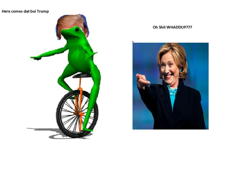 donald trump Hillary Clinton Democrat meme republican dat boi - 8795313408