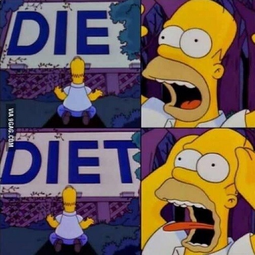 diet cartoons simpsons eating reaction funny - 8795466752