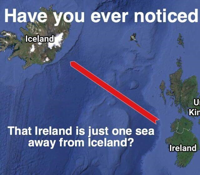 a long distance pun, that's all it is