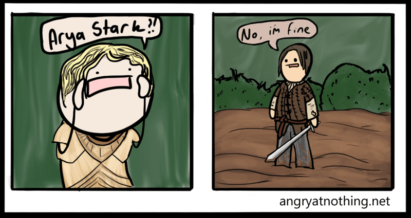 Game of Thrones,arya stark,funny,web comics