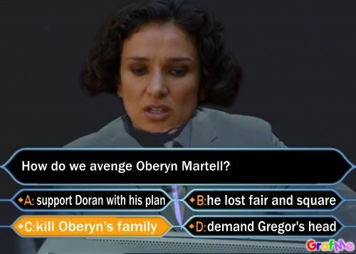 how do we avenge oberyn