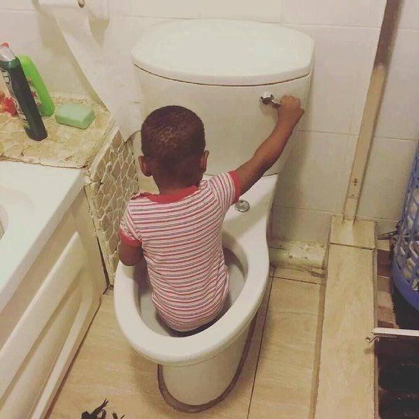 kids flush parenting toilet - 8795882752