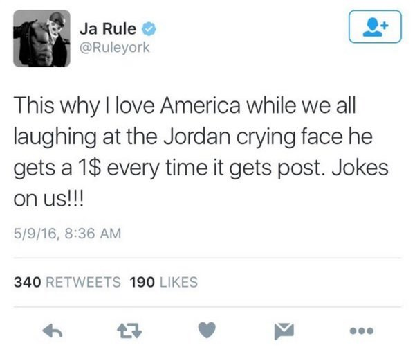 memes jordan conspiracy Ja Rule Thinks Michael Jordan Gets a Dollar for Every Crying Jordan Meme