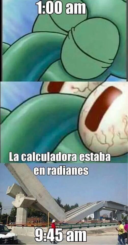 calculadora en radiales
