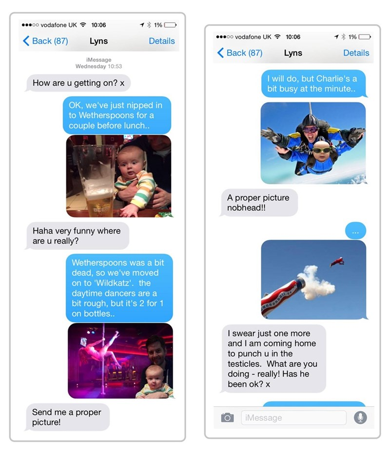 parenting trolling image A Dad Trolled His Partner With Increasingly Outrageous Baby Pictures