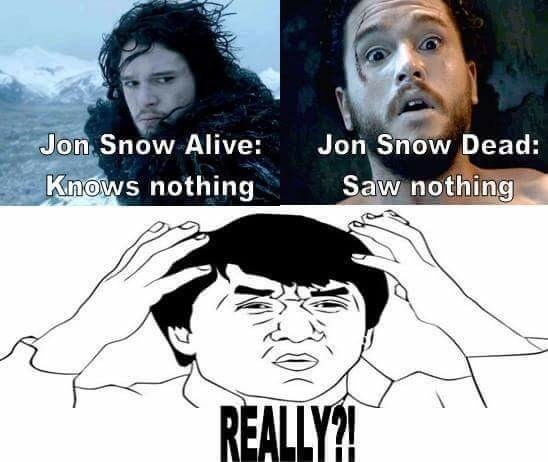 jon snow knows nothing saw nothing
