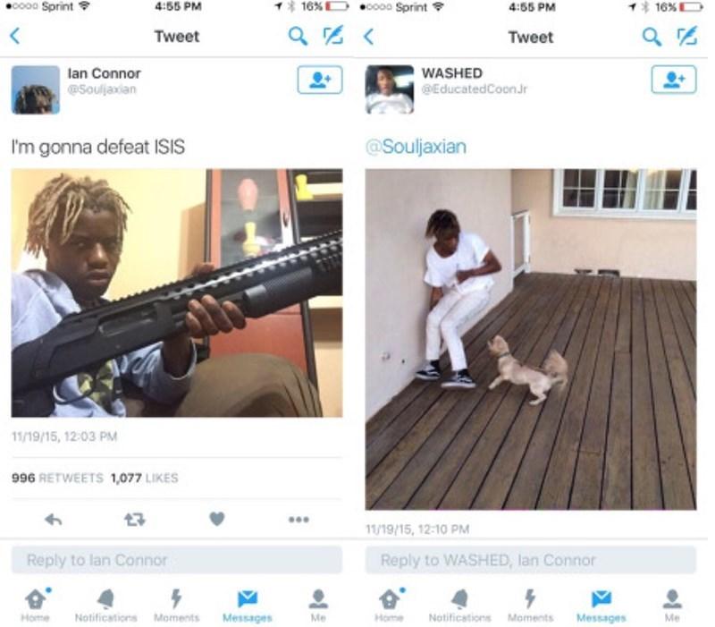 guns,twitter,isis