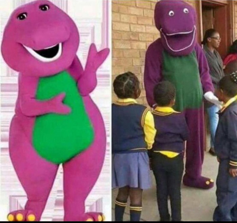 image barney expectations Expectations vs Reality