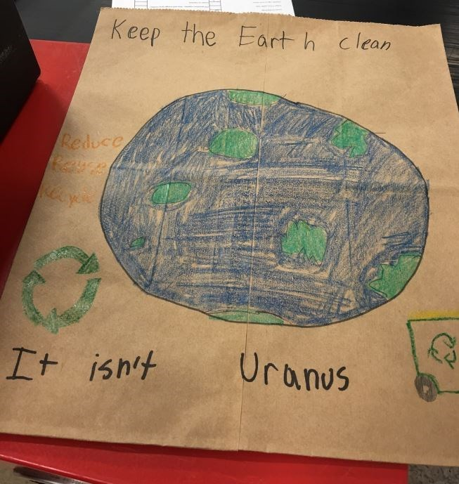image signs recycling This Kid Has a Knack for Activism