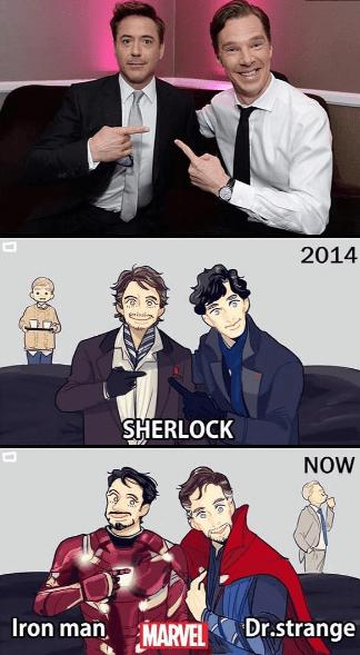 superheroes-sherlock-holmes-doctor-strange-iron-man