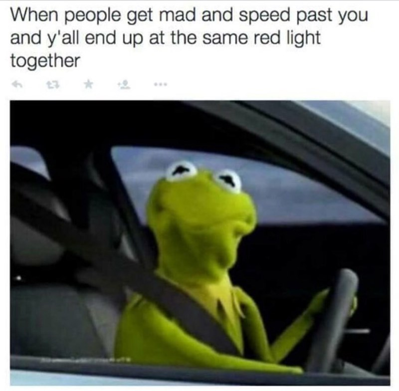 kermit the frog twitter driving Memes - 8796473600