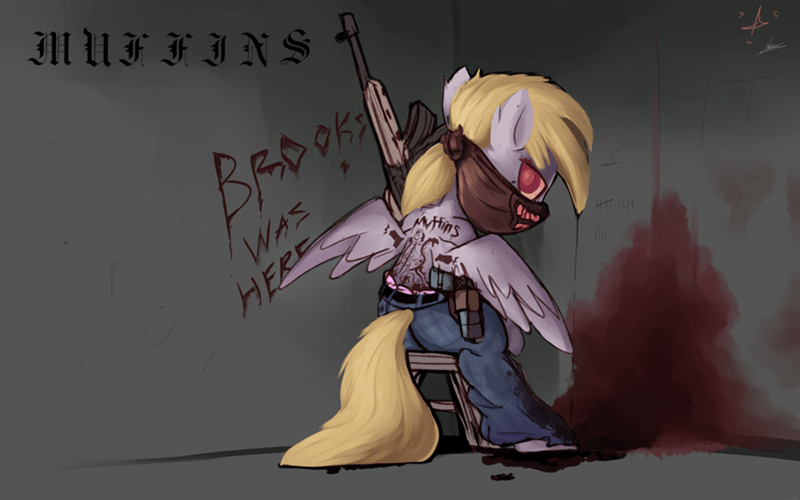 gangsta,derpy hooves