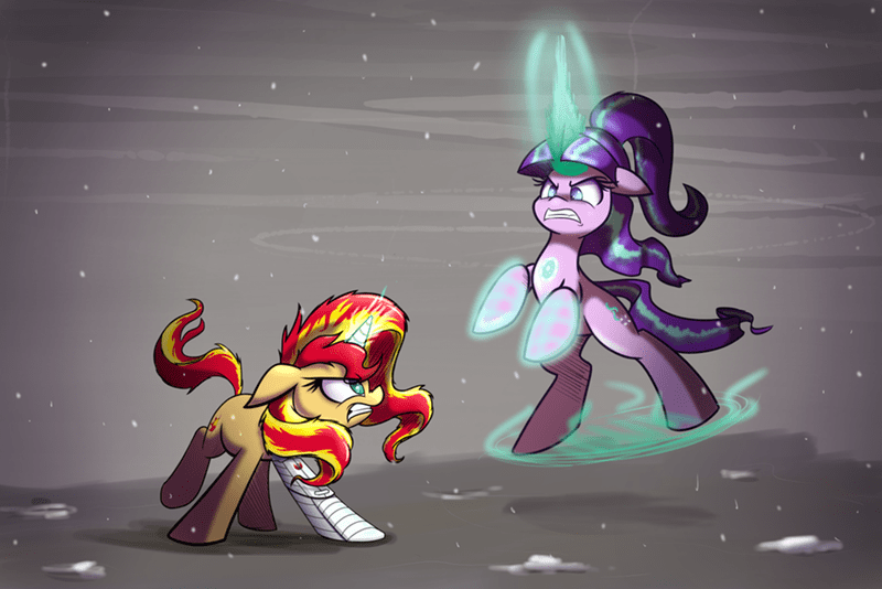 marvel starlight glimmer sunset shimmer civil war