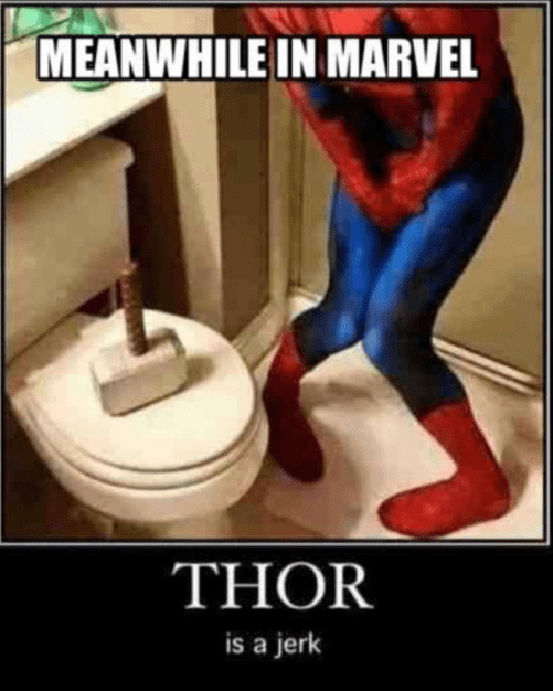 marvel-superheroes-spider-man-thor-hazing-moment