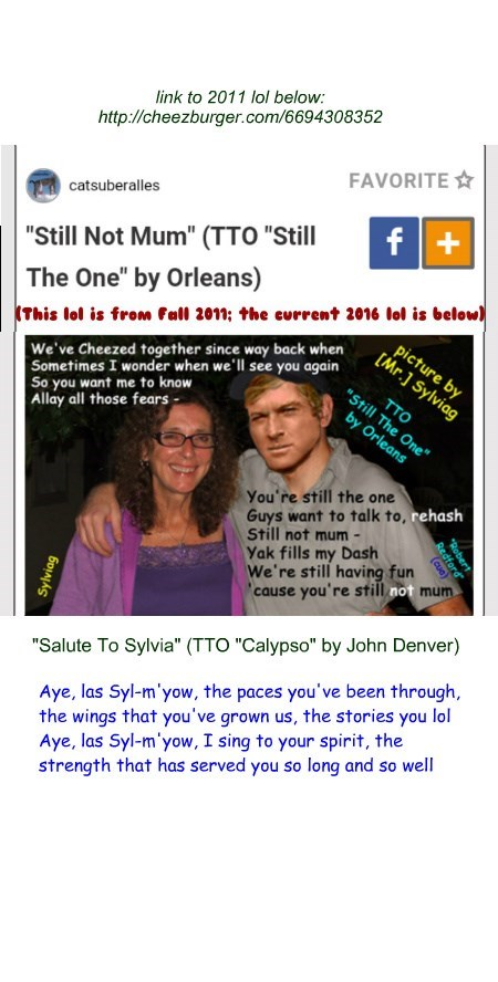 """Salute To Sylvia"" (TTO ""Calypso"" by John Denver)"