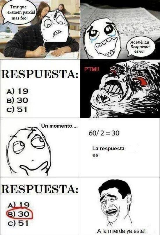 examen de matematicas